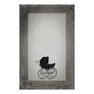 Gothic Baby Carriage Stationery Design