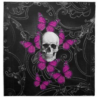 Gothic baroque skull napkin