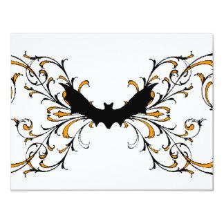 Gothic bat invitation