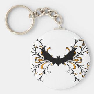 Gothic bat key chain
