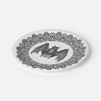 Gothic Bat Plates