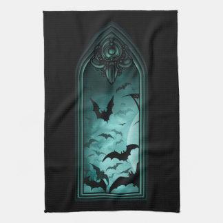 Gothic Bat Window I Kitchen Towel