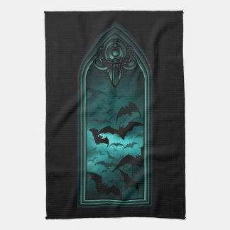 Gothic Bat Window IV Kitchen Towel