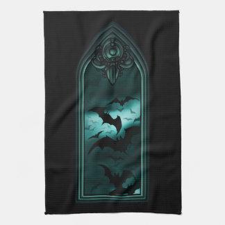 Gothic Bat Window V Kitchen Towel