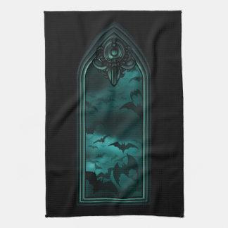 Gothic Bat Window VI Kitchen Towel