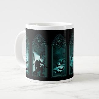 Gothic Bat Windows 20 Oz Large Ceramic Coffee Mug Jumbo Mug