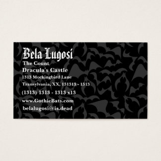 Gothic Bats Vampire Pattern Business Card