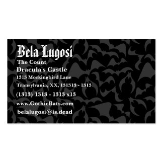 Gothic Bats Vampire Pattern Business Cards