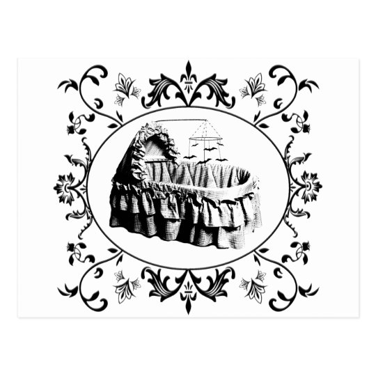 Gothic Batty Bassinet Postcard