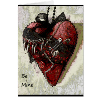 Gothic Be Mine Valentines Day Card