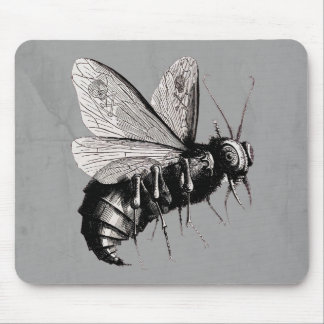 Gothic Bee Skull Wings Mouse Pad