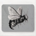 Gothic Bee Skull Wings Mousepads