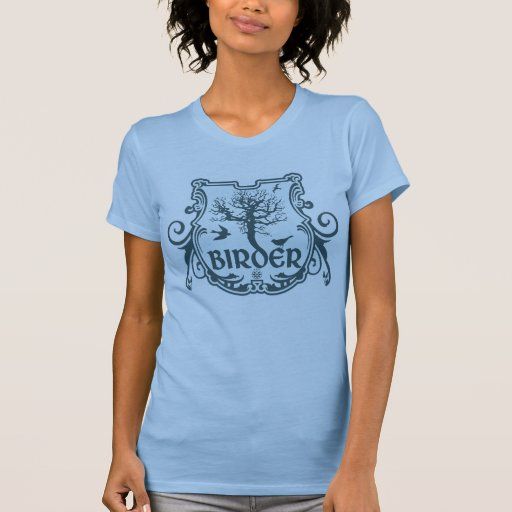 Gothic Birder Shield Tee Shirt