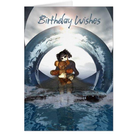 Gothic Birthday Card Little Goth Girl And Deaddy