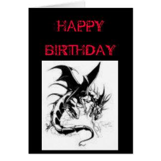 GOTHIC BIRTHDAY GREETING CARD