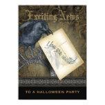 Gothic Black Crow Medium 11 Cm X 16 Cm Invitation Card