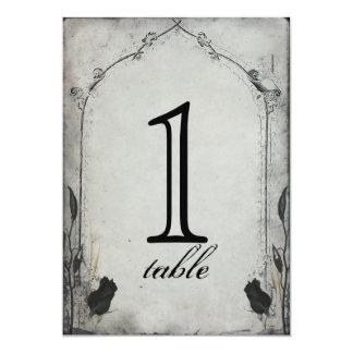 Gothic Black Rose Trellis Anniversary Table Number 13 Cm X 18 Cm Invitation Card