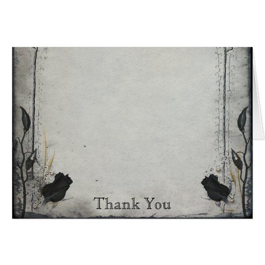 Gothic Black Rose Trellis Anniversary Thank You