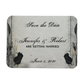 Gothic Black Rose Trellis Save the Date Magnet