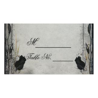 Gothic Black Rose Trellis Wedding Place Card Business Card