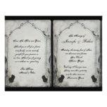 Gothic Black Rose Trellis Wedding Program