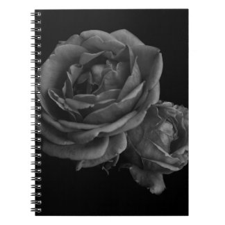 Gothic Black Roses Spiral Notebooks