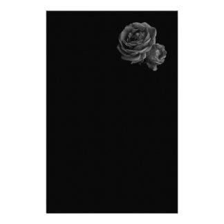 Gothic Black Roses Custom Stationery