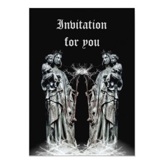 Gothic blessed mother and child all occasion 13 cm x 18 cm invitation card