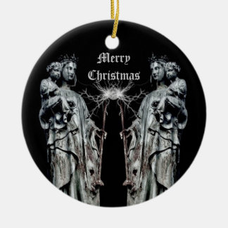 Gothic blessed mother and child Christmas Christmas Ornament