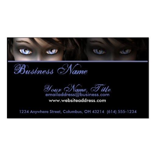Gothic Blue Eyes D1 - Goth/Fantasy Business Cards