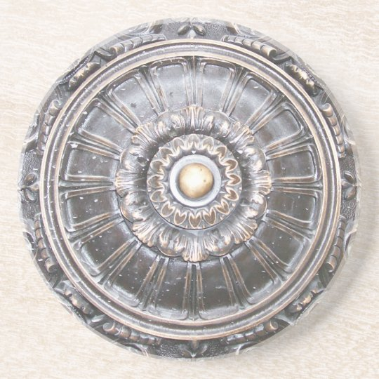 Gothic Bronze Work Medallion Coaster