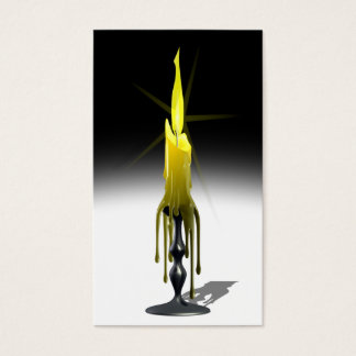 Gothic Candle-Stick Business Card