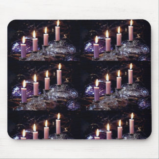 Gothic Candles in Black Room Mouse Pad