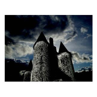 Gothic castle scene postcard
