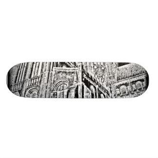 Gothic Cathedral:  Black 20 Cm Skateboard Deck