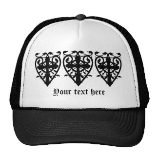 Gothic cemetery celtic cross in heart cap
