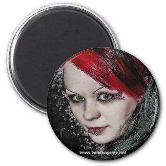 Gothic Chick 6 Cm Round Magnet