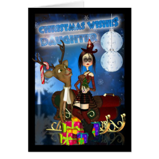 Gothic Christmas Card, H.I.P. And Reindeer