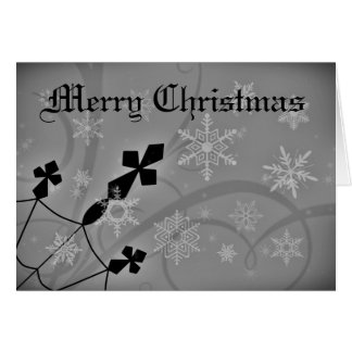 Gothic Christmas crosses and snowflakes Greeting Card