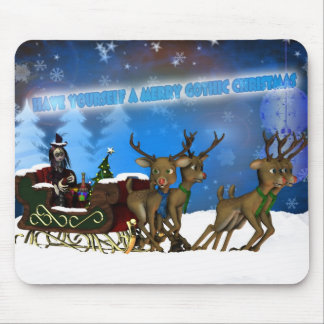 Gothic Christmas Mousepad, H.I.P. And Reindeer Mouse Mat