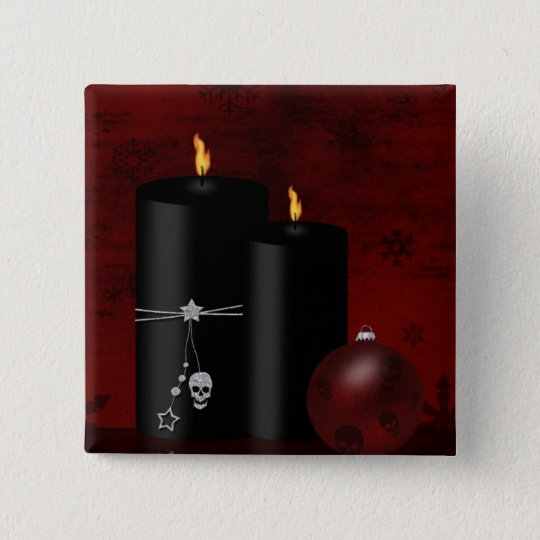 Gothic Christmas - Square Button