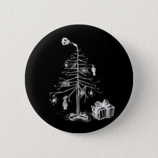 Gothic Christmas Tree 6 Cm Round Badge