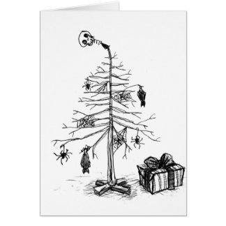Gothic Christmas Tree Card