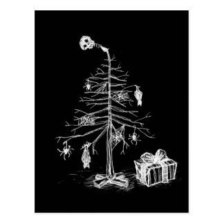 Gothic Christmas Tree Postcard