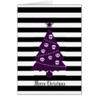 Gothic Christmas Tree With Stripes Card