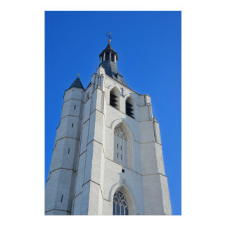 gothic church Onze-Lieve-Vrouw-over-de-Dijlekerk Posters