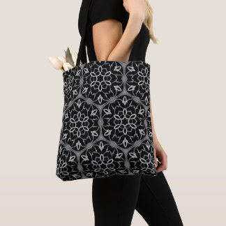 Gothic church window pattern tote bag