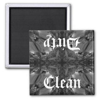 Gothic clean dirty dishwasher kaleidoscope magnet