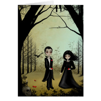 Gothic Couple Greeting Card Card