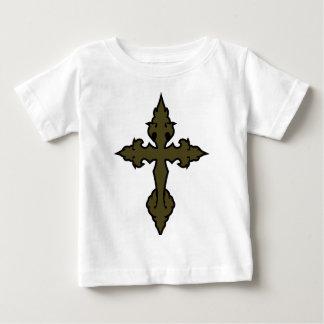 gothic cross olive drab green t-shirts